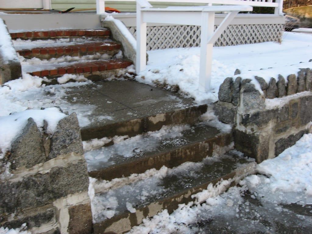 ice on steps