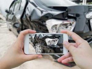 Documenting evidence following a car crash
