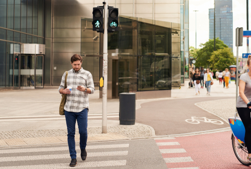 Texting While Walking Is Dangerous